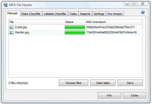 Windows 7 MD5 File Hasher 1.3 full